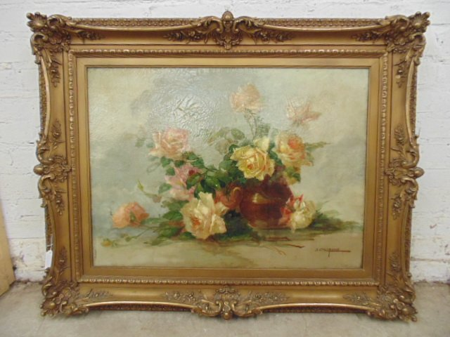 Painting, floral stillife, signed J. Califano