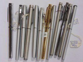 Lot stainless steel pens by Sheaffer