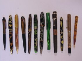 Lot of 12 fountain pens, Waterman's & more
