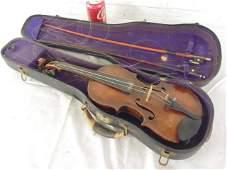 Early violin in case, marked Nicola Amati Cremona