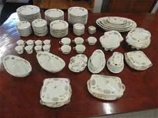 Large lot Limoges porcelain dinnerware