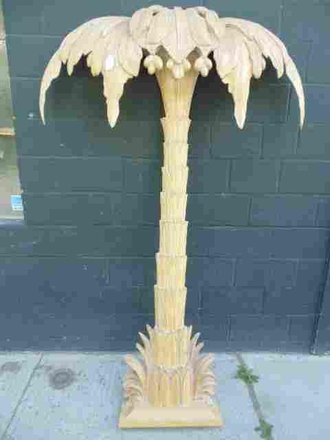 Italian carved wood palmtree