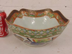 Chinese porcelain bowl, decorative border, unusual