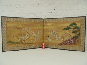 Japanese two panel folding screen