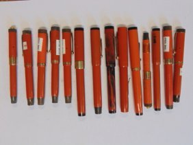 Lot fountain pens, Morrison Fountain pen Co, Parker