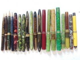Lot of 19 misc. pens & pencils, Schaefer, Parker