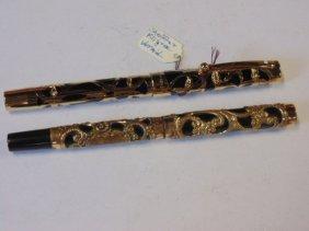 Sheaffer vermeils 925 pen, & unmarked filigree fountain