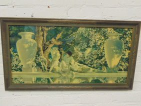 "Maxfield Parrish print, ""Garden of Allah"