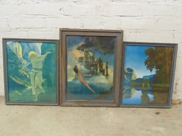 Lot 3 Maxfield Parrish prints