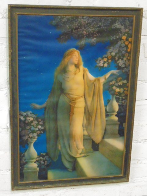 "Maxfield Parrish print, ""Cinderella"""