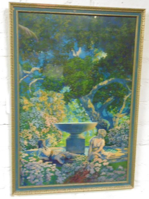 "Maxfield Parrish print, ""Reveries"""