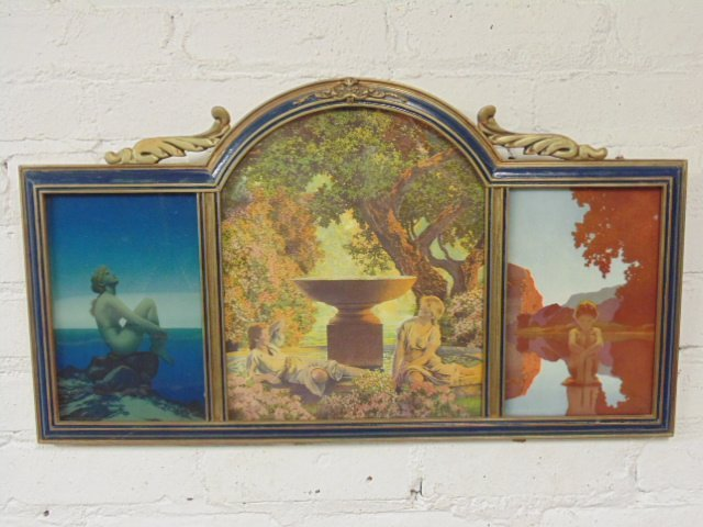 Maxfield Parrish triptych