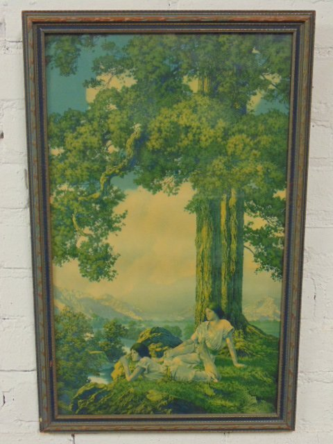 "Maxfield Parrish, House of Art print, ""Hilltop"""