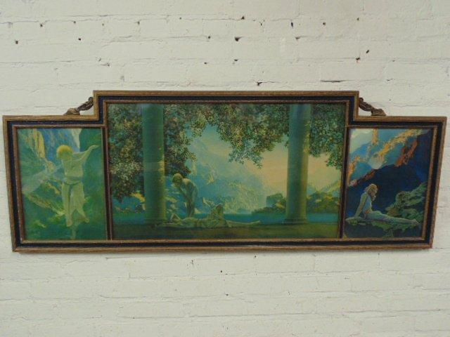 Maxfield Parrish triptych