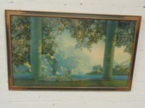 "Maxfield Parrish print, ""Daybreak"""