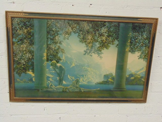 "Maxfield Parrish print, ""Daybreak"""