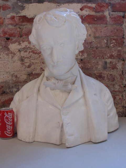 Plaster bust of Edgar Allen Poe,  Richmond VA