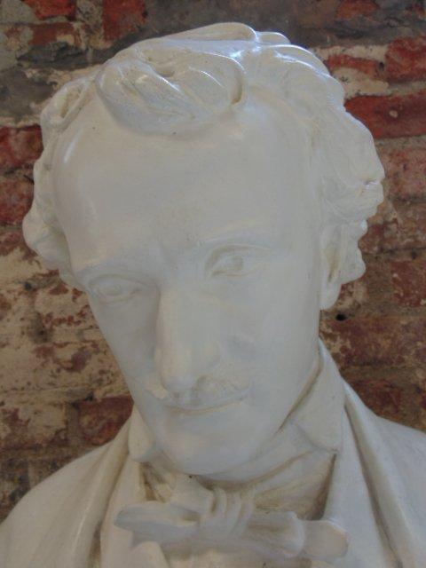 Plaster bust of Edgar Allen Poe,  Richmond VA - 2