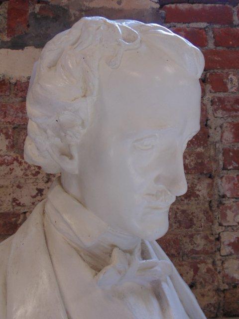 Plaster bust of Edgar Allen Poe,  Richmond VA - 3