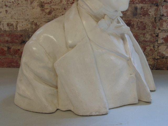 Plaster bust of Edgar Allen Poe,  Richmond VA - 4