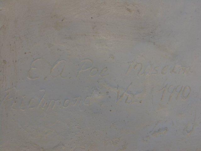 Plaster bust of Edgar Allen Poe,  Richmond VA - 6