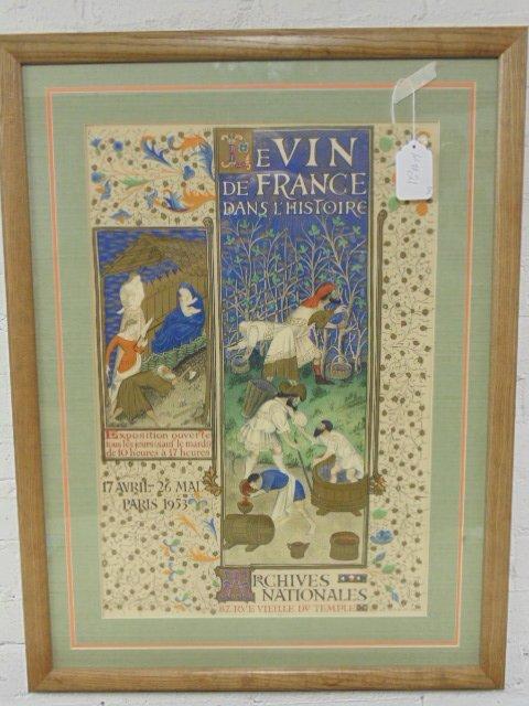 French poster, Le Vin de Francedans L'histoire, 1953