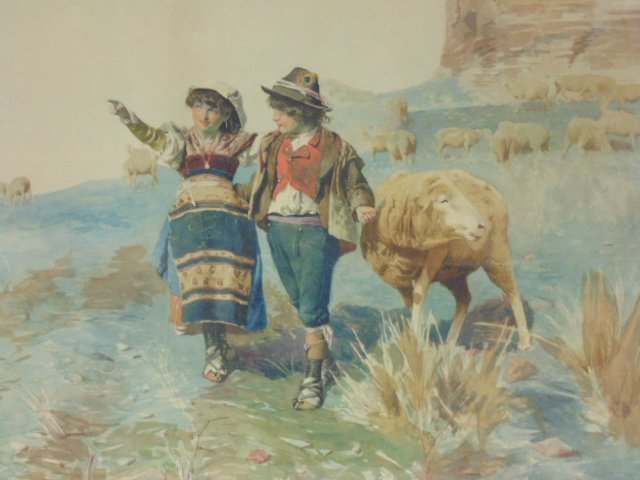 Italian watercolor, signed Domenico de Angelis, Roma - 2