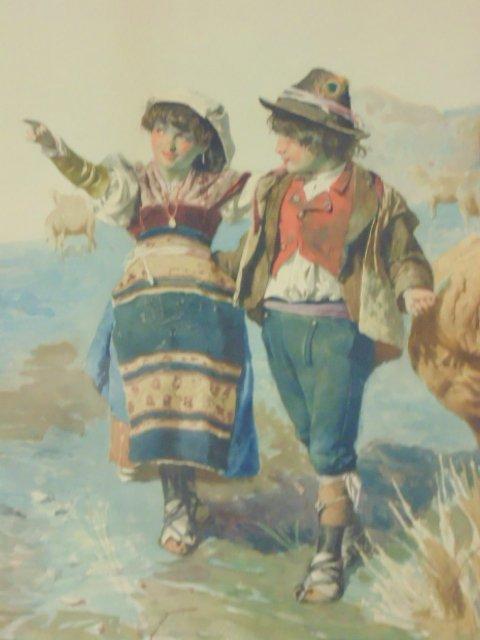 Italian watercolor, signed Domenico de Angelis, Roma - 3