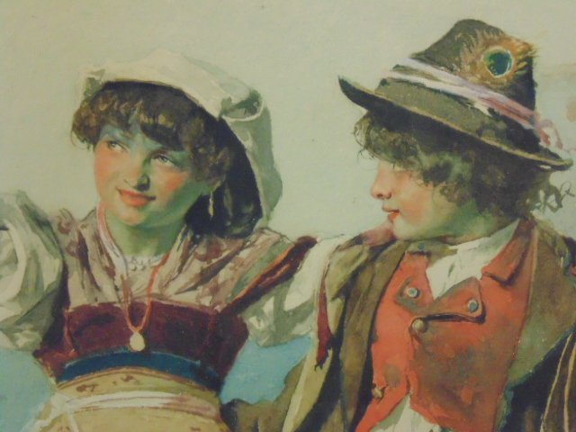 Italian watercolor, signed Domenico de Angelis, Roma - 4