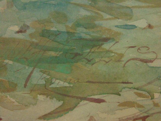 Italian watercolor, signed Domenico de Angelis, Roma - 6