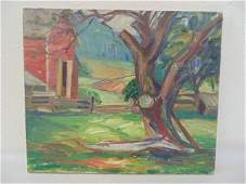 Painting landscape barn  Earle Bartrom Winslow