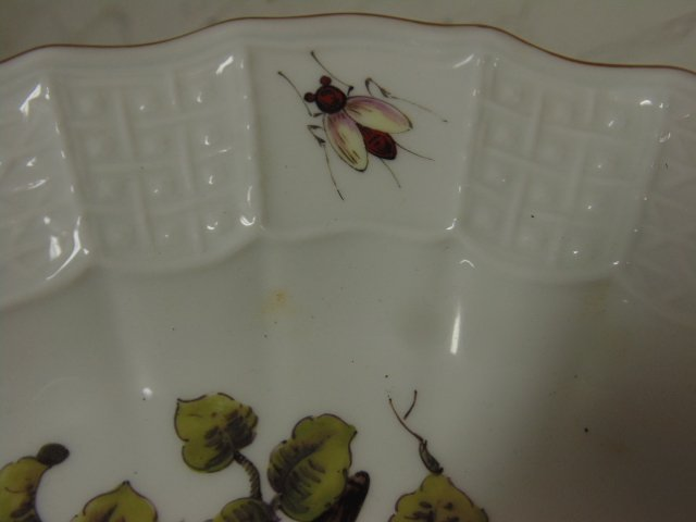 2 Meissen plates, hand painted with birds & insects - 5
