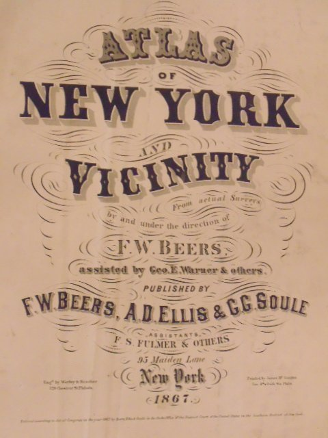 Atlas of New York and Vicinity by F.W. Beers 1867 - 3