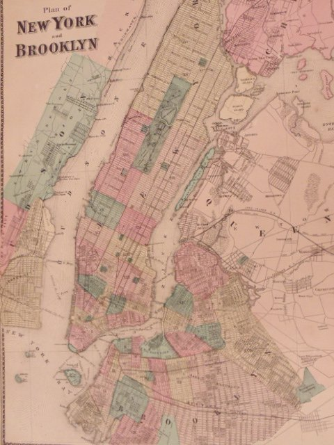 Atlas of New York and Vicinity by F.W. Beers 1867 - 5