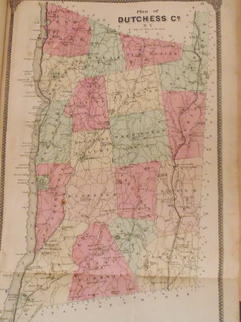 Atlas of New York and Vicinity by F.W. Beers 1867 - 6