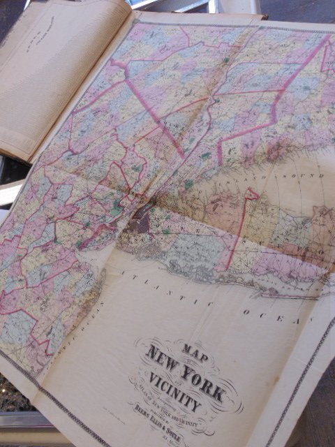 Atlas of New York and Vicinity by F.W. Beers 1867 - 8