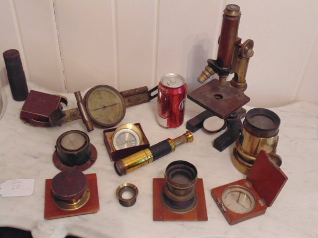 Large lot of (optical) scientific instruments