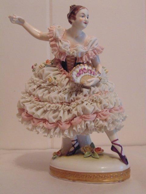 3 porcelain Dresden figurines - 2
