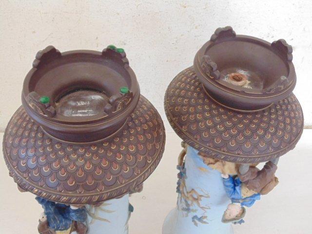 Pair large Mettlach vases - 3