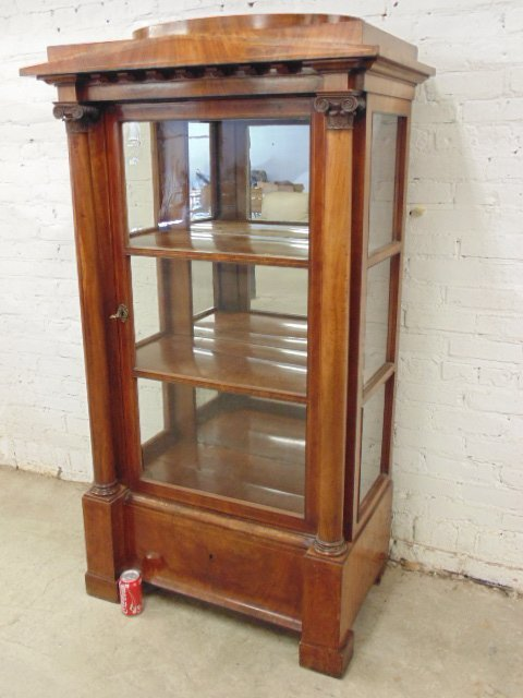 Biedermeier china cabinet, neoclassical style