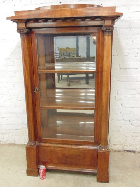 Biedermeier china cabinet, neoclassical style - 2