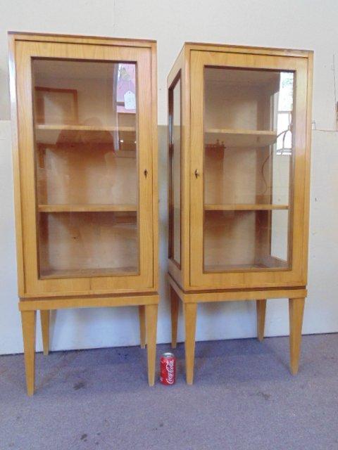 Pair Biedermeier cabinets