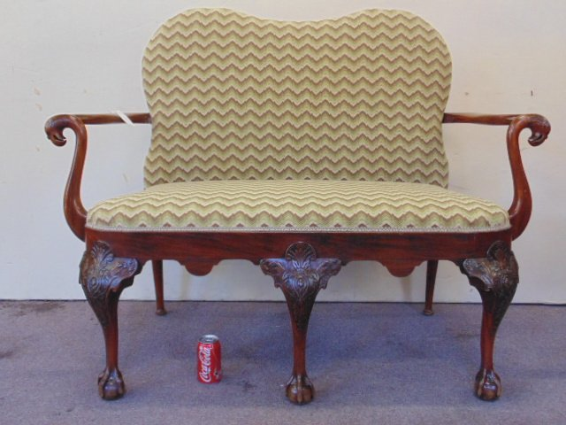 Antique Chippendale love seat