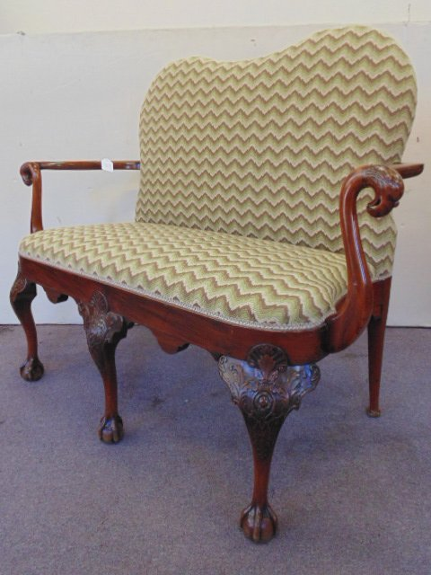 Antique Chippendale love seat - 5