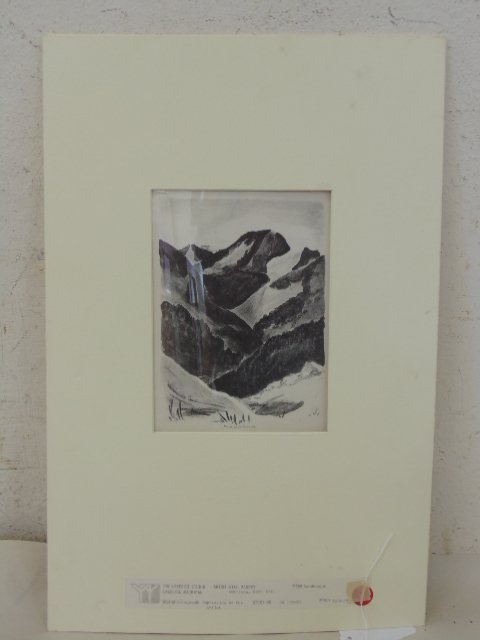 "Lithograph, ""Landscape"", signed Will Barnet"