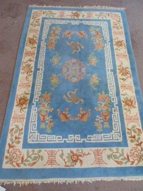Chinese carpet, light blue, Peking design
