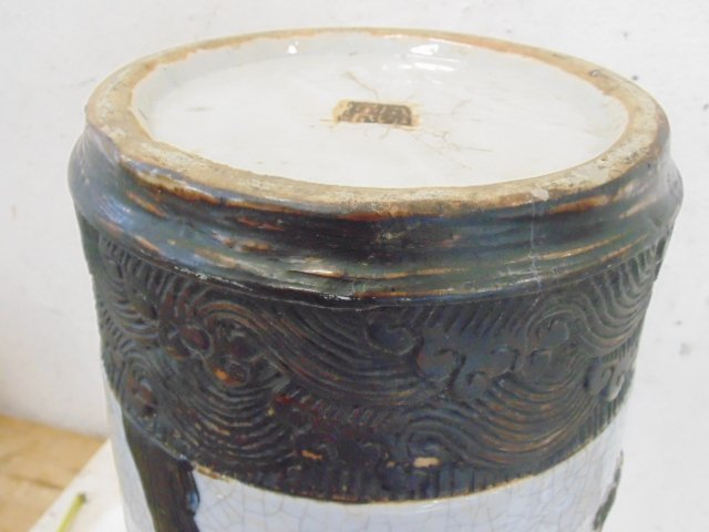 Chinese umbrella stand, crackle glaze - 7