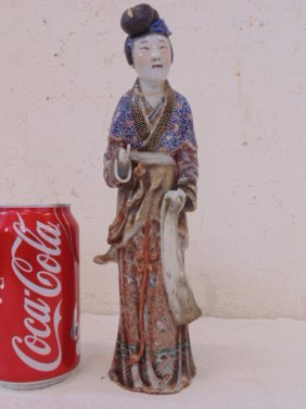Chinese porcelain figure of a woman