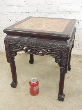 Teak Chinese plant stand