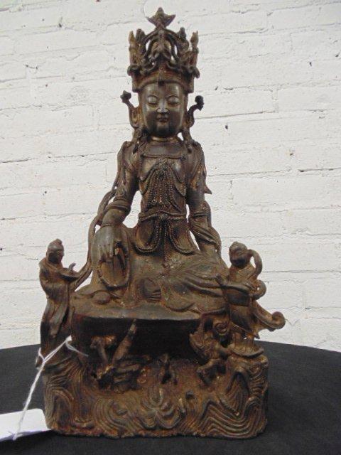 Early bronze Ming Dynastyfigure of Guanyin
